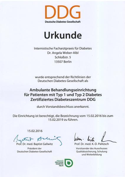 DDG Urkunde